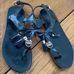 Coach plastic sandals worn darling 7 tassels